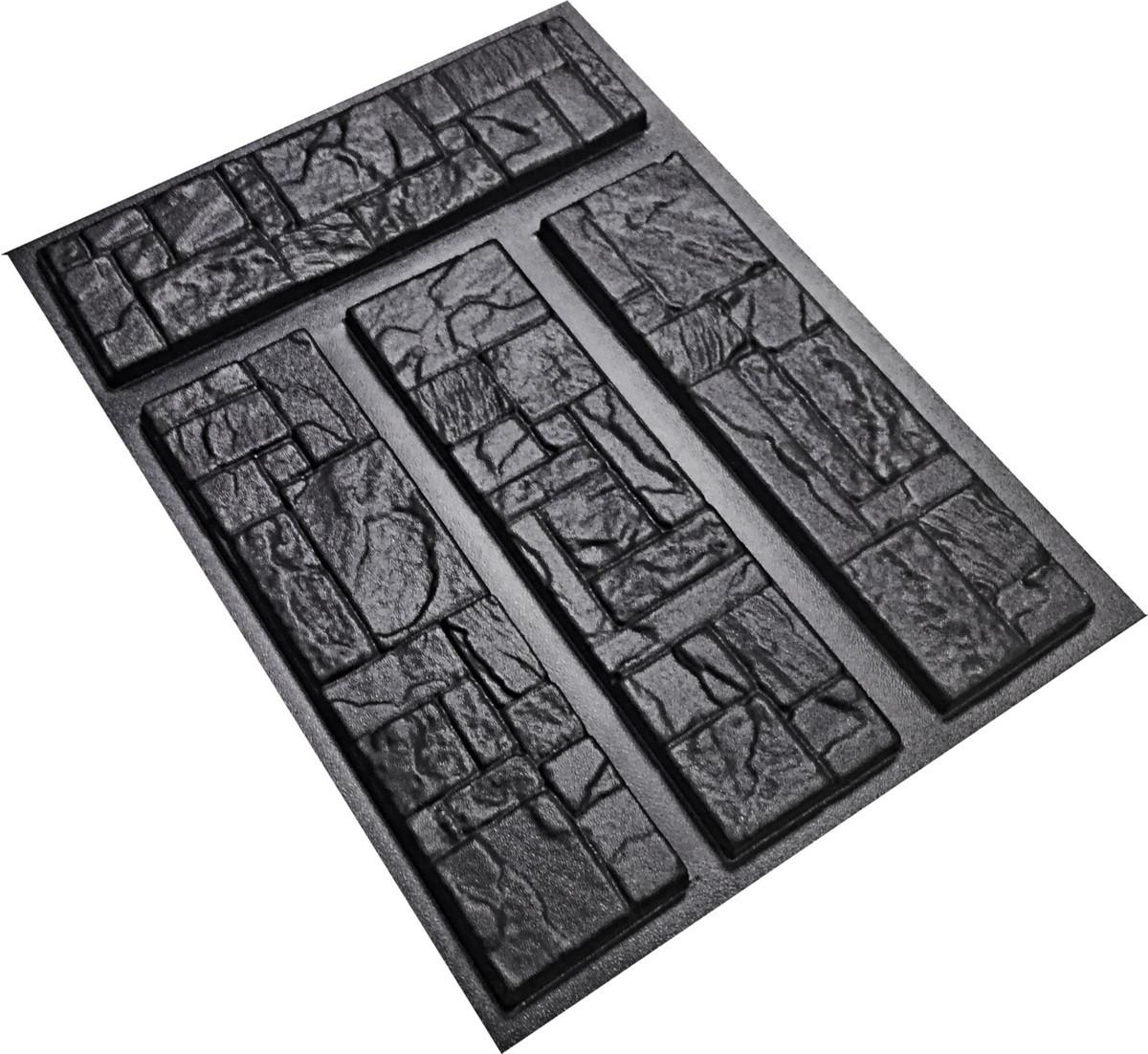 """Пластикова форма для виготовлення декоративного (штучного) каменю """"Іспанія"""""""