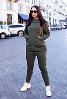 Костюм женский спортивный батальный с капюшоном