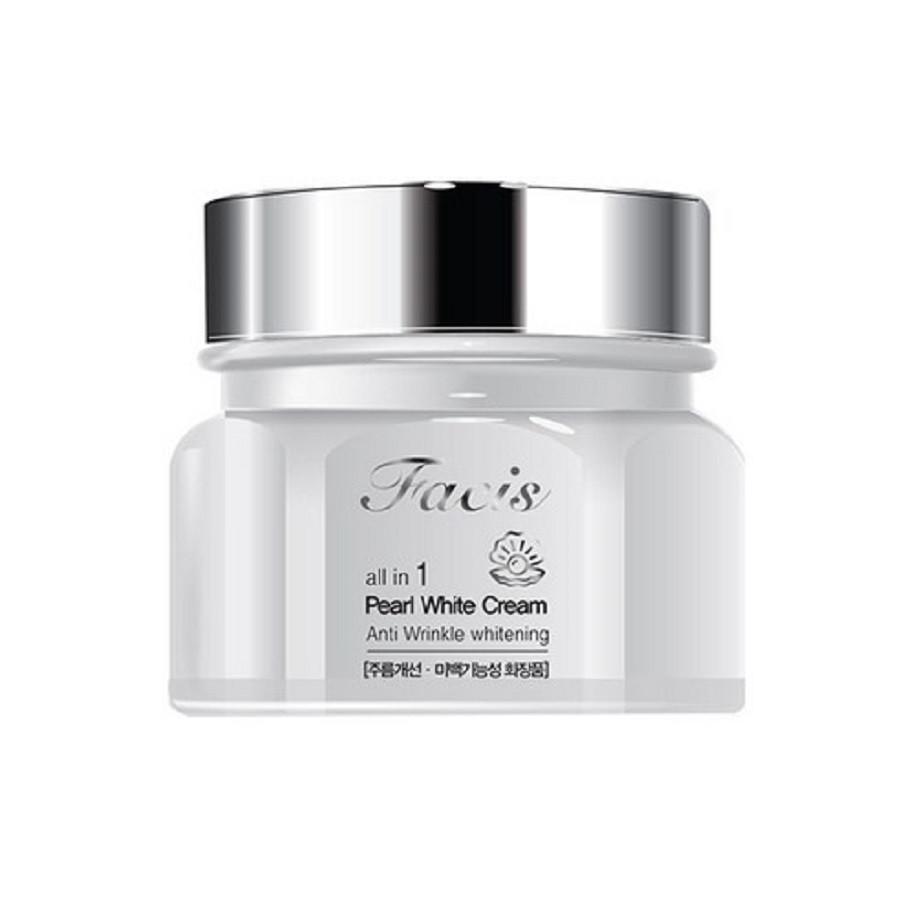 Осветляющий крем для лица с жемчужным порошком Facis All-In-One Pearl Whitening Cream 100 мл