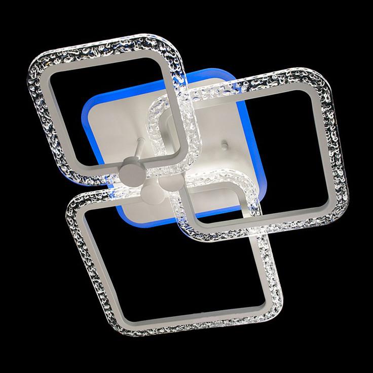 Потолочная лед люстра с подсветкой и пультом цвет белый 65W Diasha&MX2541/1+1+1WH LED 3color dimmer