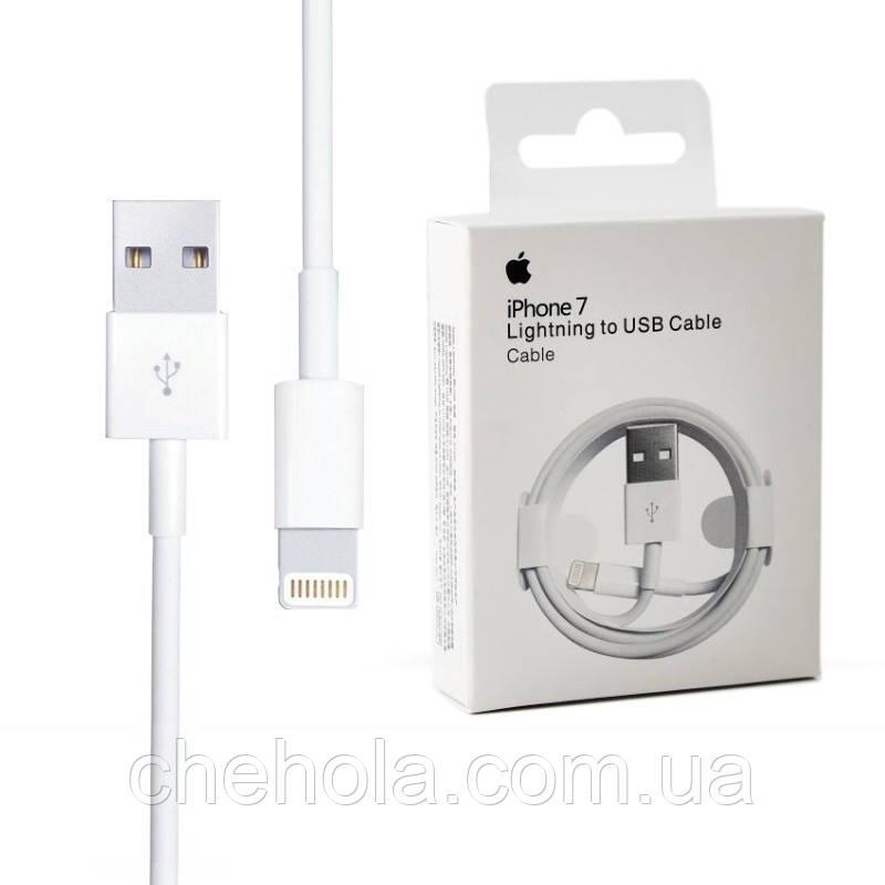 Кабель Lightning 1м Apple MFI оригінал Foxconn MD818ZM/A A1480 для Iphone 5 6 7 8 X XS XR Ipad Air Pro Mini