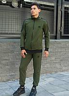 Костюм спортивный мужской хаки стильный брендовый Adidas Адидас
