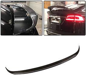 Спойлер Tesla Model X тюнинг сабля (карбон)