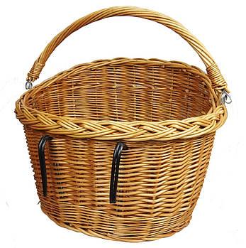 Кошик плетінь на велосипед Євроровер коричневий