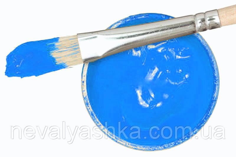 Заготовка для Бизиборда Краска ГОЛУБАЯ Акриловая Эмаль - 2 мл Акрил Голубой для Покраски Деревянных Деталей