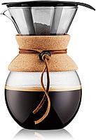 Кофеварка пуровер Bodum 1 л с многоразовым фильтром, фото 1