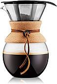 Кофеварка пуровер Bodum 1 л с многоразовым фильтром