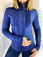 Рубашка женская темно-синяя 20517 36,38,40,42,44