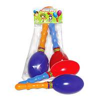 Маракасы пластмассовые (2 шт. в пакете) -музыкальная игрушка для любого возраста