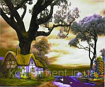 """Картина по номерам  """"Домик в волшебном лесу"""" 40*50 см, краски - акрил"""