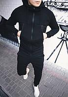 Спортивный костюм теплый мужской черный ЛЮКС качества