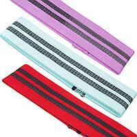 Ленты сопротивления набор 3шт LOOP BANDS (полиэстер, р-р 60x8см, 70х8см, 80х8см)