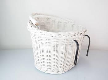 Кошик плетінь на велосипед Євроровер білий