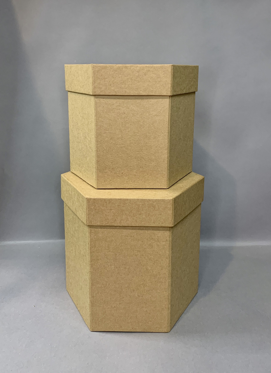 Коробка шестигранная(крафт)