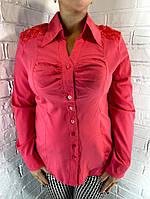 Рубашка женская коралловая 03172 Крупный ОПТ