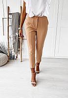 Женские брюки 7/8 длины Бежевые L(46-48)