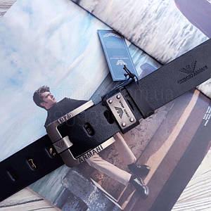 Мужской кожаный ремень Giorgio Armani реплика Темно-синий
