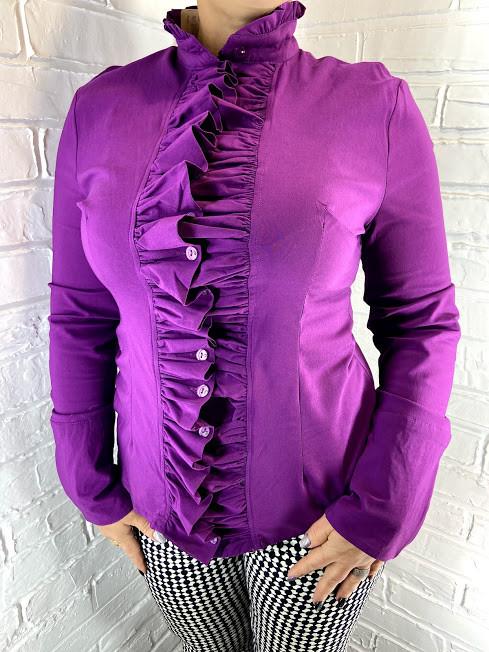 Рубашка женская Kalicyu фиолетовая XXL