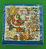 Новогодняя салфетка (ЗЗхЗЗ, 20шт) LuxyНГ Дед мороз и Звери  (709) (1 пач), фото 2