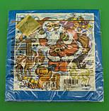 Новогодняя салфетка (ЗЗхЗЗ, 20шт) LuxyНГ Дед мороз и Звери  (709) (1 пач), фото 3