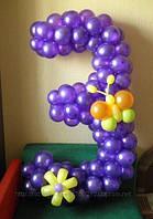 Оформление праздников цифрами из шаров