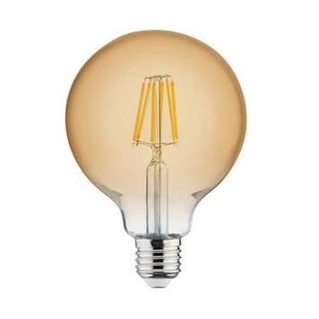 """Лампа винтажная светодиодная (ретро) """"RUSTIC GLOBE-6"""" 6W Filament led 2200К E27"""