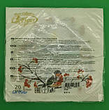 Дизайнерская салфетка (ЗЗхЗЗ, 20шт)  La FleurНГ Снегири 081 (1 пач), фото 3