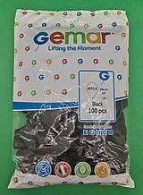 """Надувні кулі пастель чорний 10"""" (25 см) Gemar 100 шт (1 пач.)"""