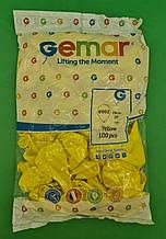 "Повітряні кулі пастель жовтий 10"" (25 см) Gemar 100 шт (1 пач.)"