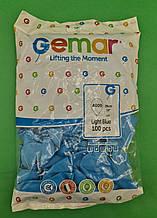 """Повітряні кулі пастель світло блакитний 10"""" (25 см) Gemar 100 шт (1 пач.)"""