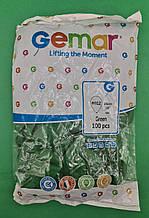 """Надувні кулі пастель зелений 10"""" (25 см) Gemar 100 шт (1 пач.)"""