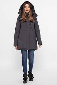 Модна червона зимова куртка-парку Великі розміри осіння S,M,L,XL,2XL