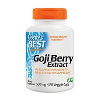 Ягоды Годжи при ослабленном иммунитете, аллергии Goji Berry Extract Doctor's Best 600 мг 120 капсул