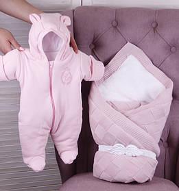 """Зимний набор для новорожденной девочки на выписку, """"Мечта+ВВ"""" розовый"""