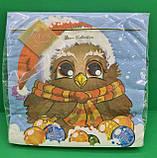 Новорічна серветка (ЗЗхЗЗ, 20шт) LuxyНГ Замичтавшаяся сова (1 пач.), фото 2
