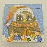 Новорічна серветка (ЗЗхЗЗ, 20шт) LuxyНГ Замичтавшаяся сова (1 пач.), фото 4