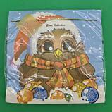 Новорічна серветка (ЗЗхЗЗ, 20шт) LuxyНГ Замичтавшаяся сова (1 пач.), фото 5