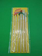 Набір пензликів для малювання (6шт) тм.Пегашка (1 пач.)