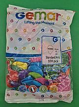 """Повітряні кульки асорті пастель 8"""" (21 см) 100 шт (1 пач.)"""