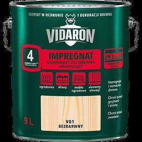 Импрегнат Грут для древесины Vidaron V01 бесцветный 9 л