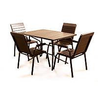 """Комплект меблів для літніх кафе """"Балтика"""" стіл (120*80) + 4 стільця Венге, фото 1"""