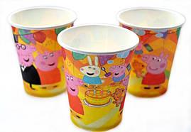 """Одноразовые  стаканы для кенди баров """"Свинка пеппи"""", 10 штук"""