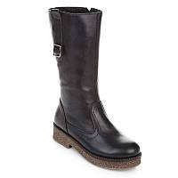 """Сапоги кожаные на молнии. Размер: 31. черный. TM """"LAPSI"""" 18-1498-1. Украина."""