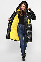 Черный зимний модный пуховик-куртка  Размеры  44, 46, 48, 50, 52, 54, фото 2