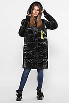 Черный зимний модный пуховик-куртка  Размеры  44, 46, 48, 50, 52, 54, фото 3