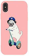 Чехол-накладка TOTO Matt TPU 2mm Print Case Apple iPhone XS Max #2 Dog Skate Pink