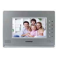 Видеодомофон цветной на 4 камеры Commax CDV-71AM Silver
