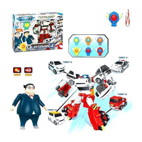 """Набор игрушек """"Робот-трансформер Quatran с героями """" Q1907"""