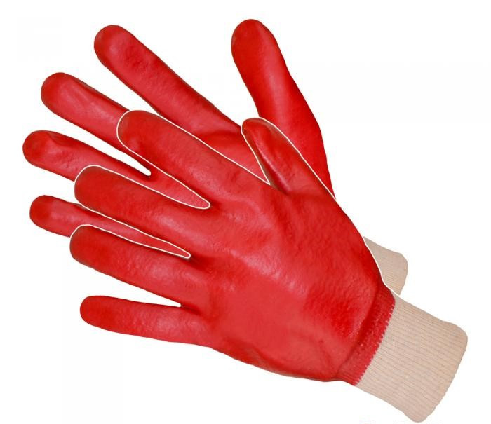 Рабочие перчатки с ПВХ покрытием Artmas RPVCsPe kat.1, красный