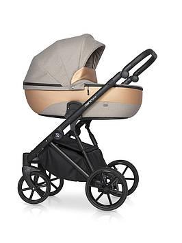 Светлая коляска 2 в1 для новорожденного ребенка Качественная стильная коляска для девочки